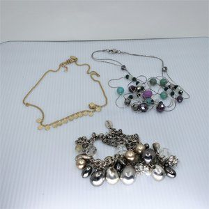 Two Loft Necklaces with Third Bonus WHBM Necklace